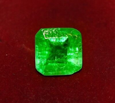 GGL Certified Fabulous 13.45 Cts. Natural Green Emerald, Square Shape Gemstone