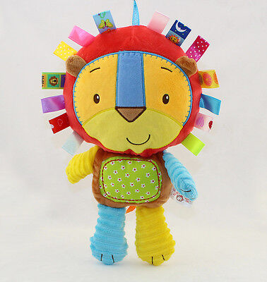 1 Baby infant lion king activity rattle bell soft comfort toy developmental toy