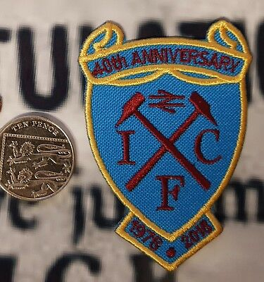 Official Icf 40 Years Patch West Ham Rejects Casual Lazio Ultras Oi Rare Punk