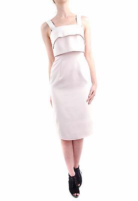 Keepsake Women's City Lights Strap Overlay Midi Dress Sheer Pink Size S BCF64