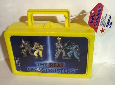 RARE 1986 The Real Ghostbusters Kids Katchall Carryall Storage Container Box+TAG
