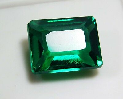 Natural 25.70 Cts. Untreated Emerald Cut Colombian Loose Emerald Gems. 2754
