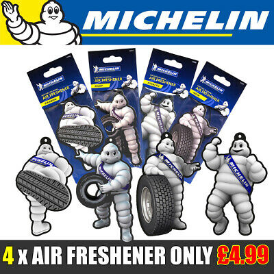 Michelin Tyre Man Car Air Freshener Freshner Fragrance Scent - Novelty QTY x 4