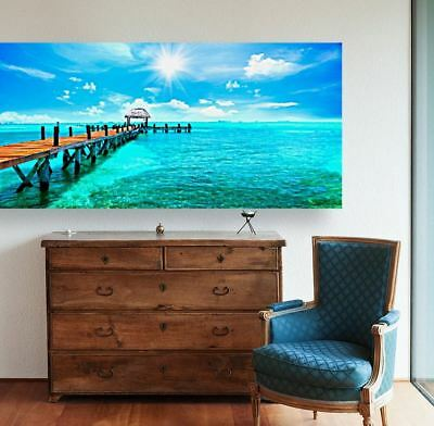 BEACH SCENERY BEAUTIFUL  high quality Canvas painting  Home decor