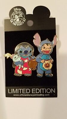 Disney Pin Le Stitch Lilo Dressed Up As Halloween