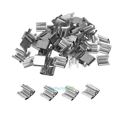 50Pcs DIY Wood Candle Wicks Base Stand Iron Clip for Wax Candle Making Supplies