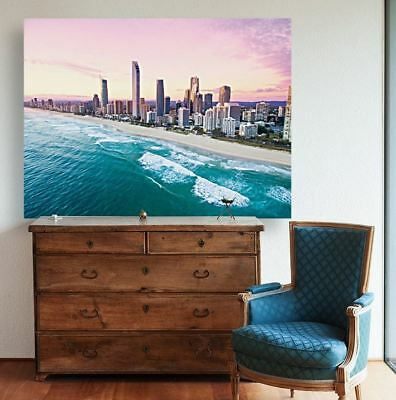 LOVELY BEACH SCENERY BEAUTIFUL  high quality Canvas painting  Home decor
