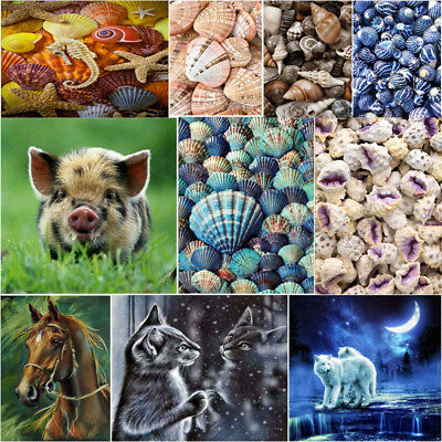 5D DIY Conch Shell Round Full Diamond Painting Embroidery Cross Stitch Decor Kit