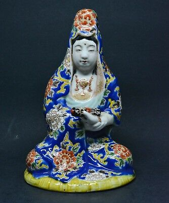 Antique Japanese Kutani Porcelain Kwan Yin Figurine 1920s ~ 6.5 inches Tall~🐘