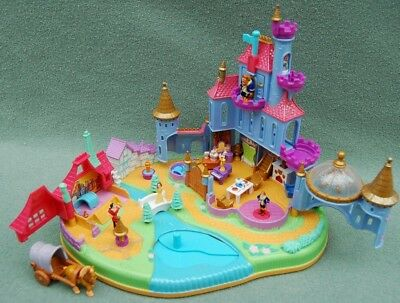 Polly Pocket Disney Belle, Beauty and the Beast Magical Castle 1997 Complete