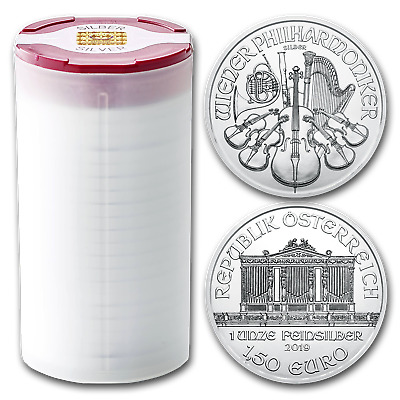 2019 Austria 1 oz Silver Philharmonic BU (Tube of 20) - SKU#180674