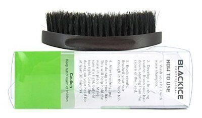 Black Ice Magic Wave 5.25'' Curved Palm Brush Soft Premium Boar Wooden Military