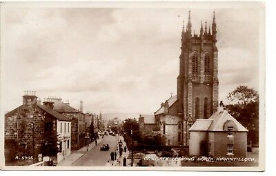Postcard, Cowgate Looking North, Kirkintilloch, Valentine Real Photograph, 1943