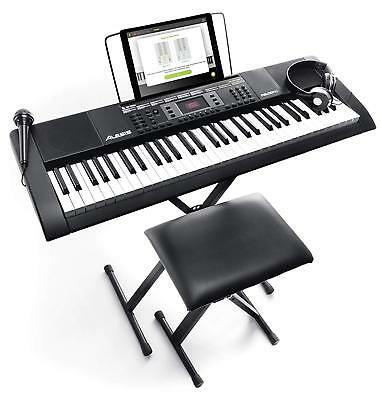 Alesis Melody 61 MKII - 61-Key Portable Keyboard with Built-In Speakers, Headpho