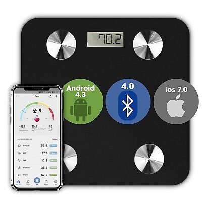 Bluetooth Bathroom Body Fat Scales BMI Bone LCD Weighing BMI Scale iOS Android