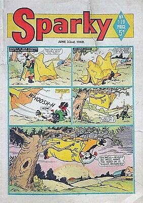 SPARKY - 22nd JUNE 1968 (21 - 27 June) YOUR WEEK OF BIRTH ?? dandy beezer topper