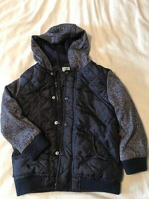 Navy Quilted Jacket 5-6 Years