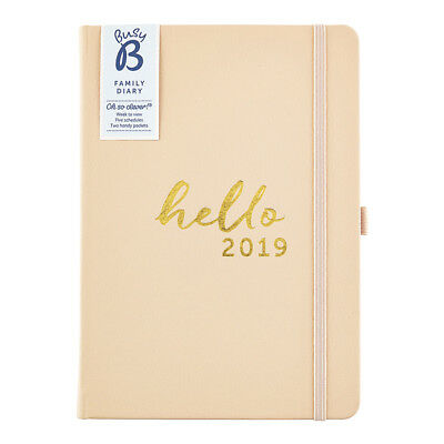 Busy B Family Diary 2019 - 5 schedules plus pockets