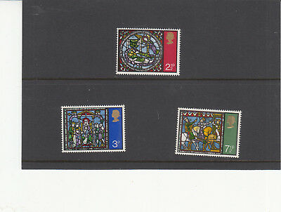 Stamps GB QE2 1971 Christmas Stained Glass SG 767-770 MNH Set of 3