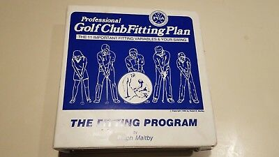 P.G.A. Golf Club Fitting Guide Book-Ralph Maltby- 1986