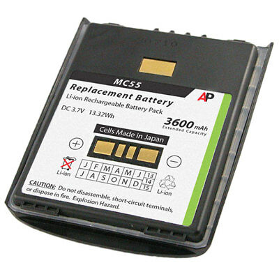 Replacement Battery for Motorola/Symbol MC55 & MC65 Series. 3600mAh Extended