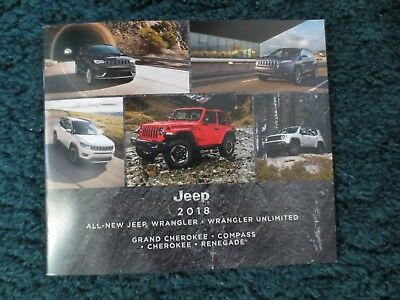 2018 Jeep Brochure Grand Cherokee Wrangler Compas Renegade Full Line All Models