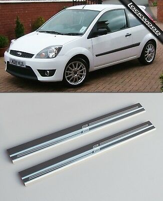 Ford Fiesta Zetec S MK6 2002 - 2008 2Dr Stainless Sill Protectors / Kick Plates