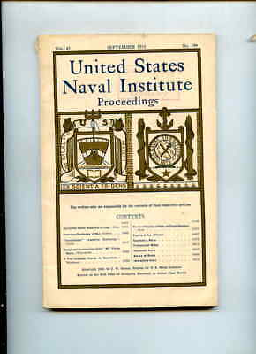 PB BK United States Naval Institute Proceedings Sep 1919 Monthly Issue