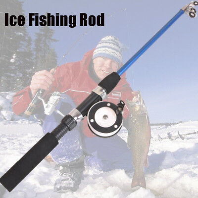 New Spinning Winter Portable Reels Ice Fishing Rods Retractable Pen Pole