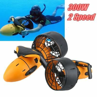 300W Electric Underwater Scooter Water Sea Dual Speed Propeller Diving Pool