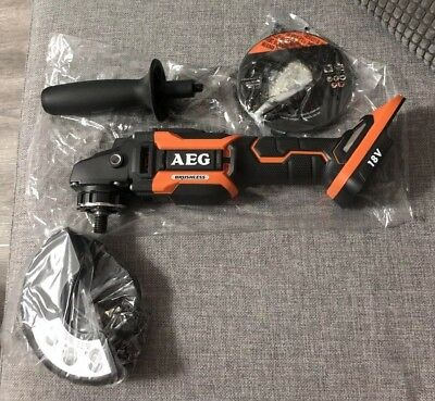 AEG 18V Brushless 125mm S/ Switch Angle Grinder With Warranty Brand New