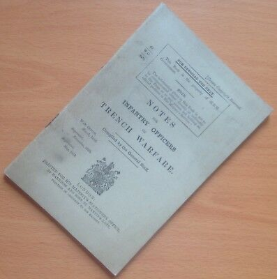 Original Wwi British Manual: Notes For Infantry Officers On Trench Warfare, 1917