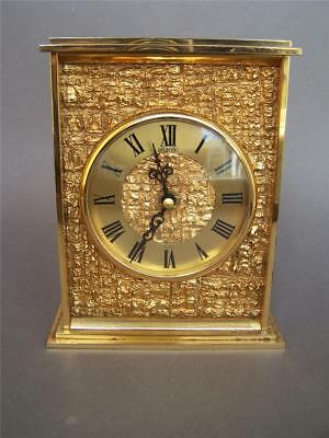 Atlantic Swiss Made Solid Brass Mantle Battery Clock - not working