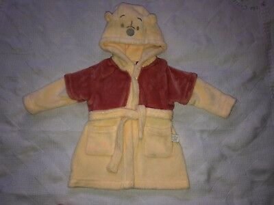 Baby Winnie The Wooh Dressing Gown House Coat Sleep Wear Size 6-9 Months