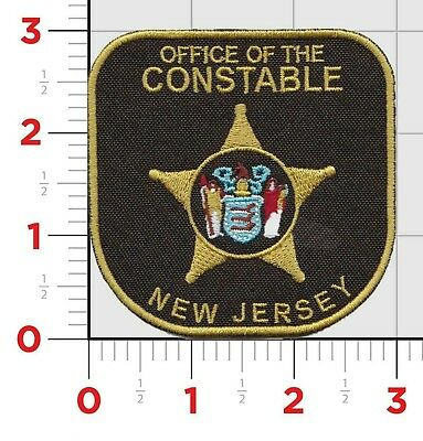 """Police Constable (New Jersey) Uniform Shoulder Patch Badge 3""""X 3"""" NEW"""
