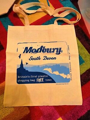 The World Famous Modbury Bag (1st UK Plastic Bag Free Town, 2007), New, Cotton A