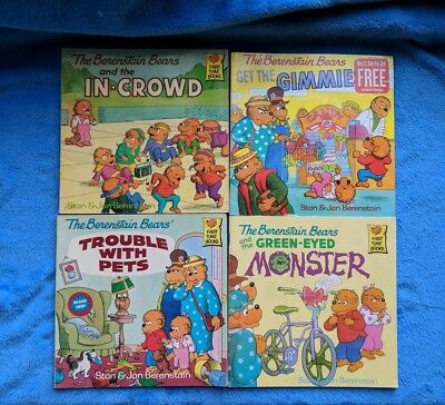 THE BERENSTAIN BEARS 4 Softcover Book Lot Children's