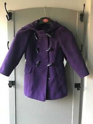 Girls Purple Duffle Coat from George 4-5 year old