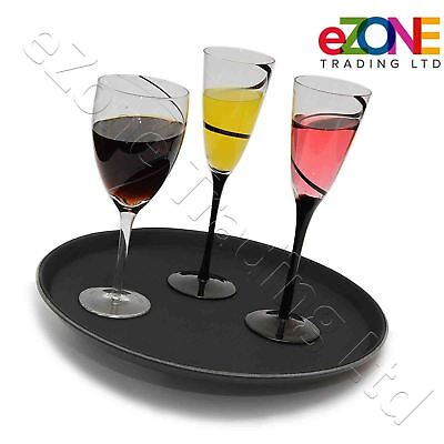Non-Slip Round Tray Bar Pub Waiter Serving Drinks Food Café Dinner Platter