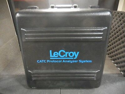 LeCroy CATC Protocol Analyzer System Carry Case w/ Key + Face Plate & B/O Board