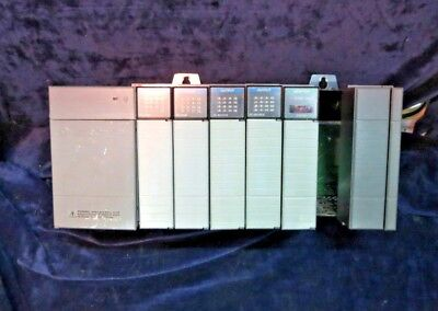Allen-Bradley SLC 500, 1746-P2 Power Supply w/Modules (Input/Output/Adapter)