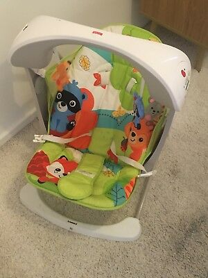 2 x Items Fisher Price Woodland Baby Swing and Fisher Price Rainforest Jumperoo.