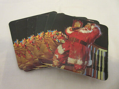 Vintage Coca-Cola Coasters -- 1999 -- Santa Claus -- Set Of 6