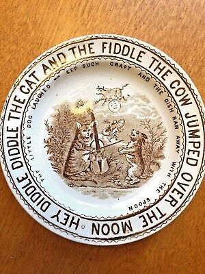 Nursery Rhymes Child's Transfer Ware Plate
