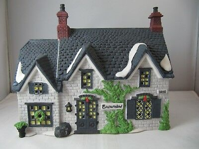 "Dept 56 Dickens Village Series ""brownlow House"" From 1990 & New - No Box"