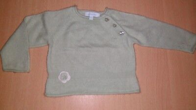 pull vert clair fille taille 6 mois
