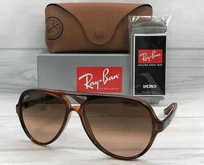 cb4307bf3c Ray Ban RB4125 CATS 820/A5 Stripped Havana / Pink Gradient Brown 59mm  Sunglasses