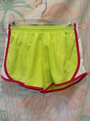 Nike Tempo Womens Lined Running Shorts Size L Green Sports Athletic Dri-Fit