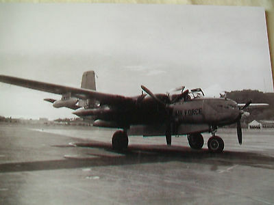 Vintage Photo 5 X 7  U.s. Air Force B-26 Bomber ,605Th Squadron,canal Zone