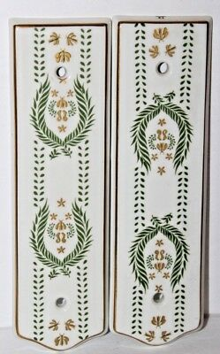 2 J M Limoges Authentique Door Push Plate Finger Plate Door Made in France